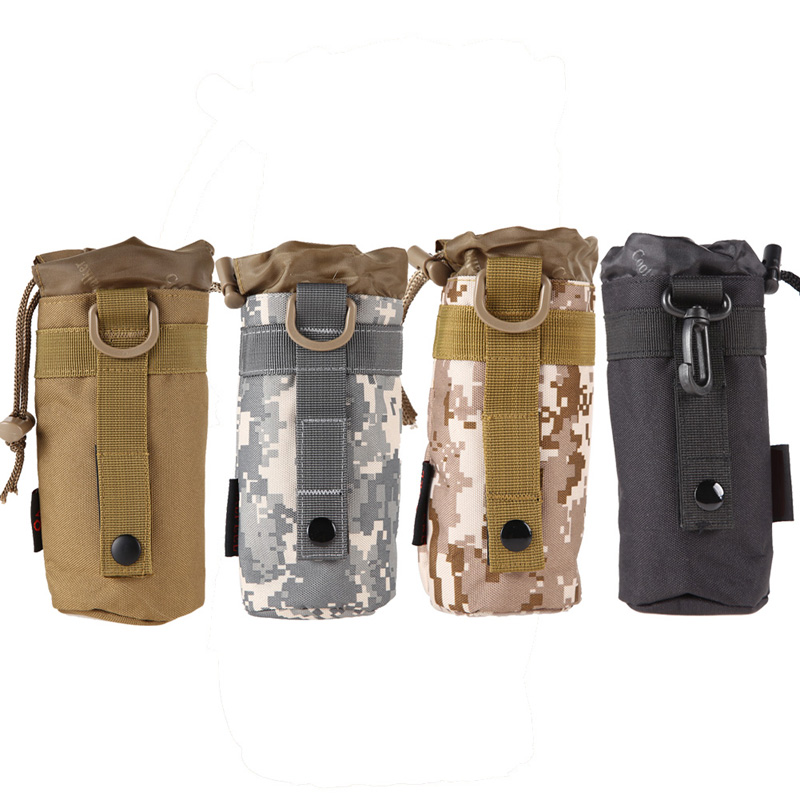 Outdoor Tactical Molle Water Bottle Bag Hiking Belt Holder Kettle Pouch New Hot