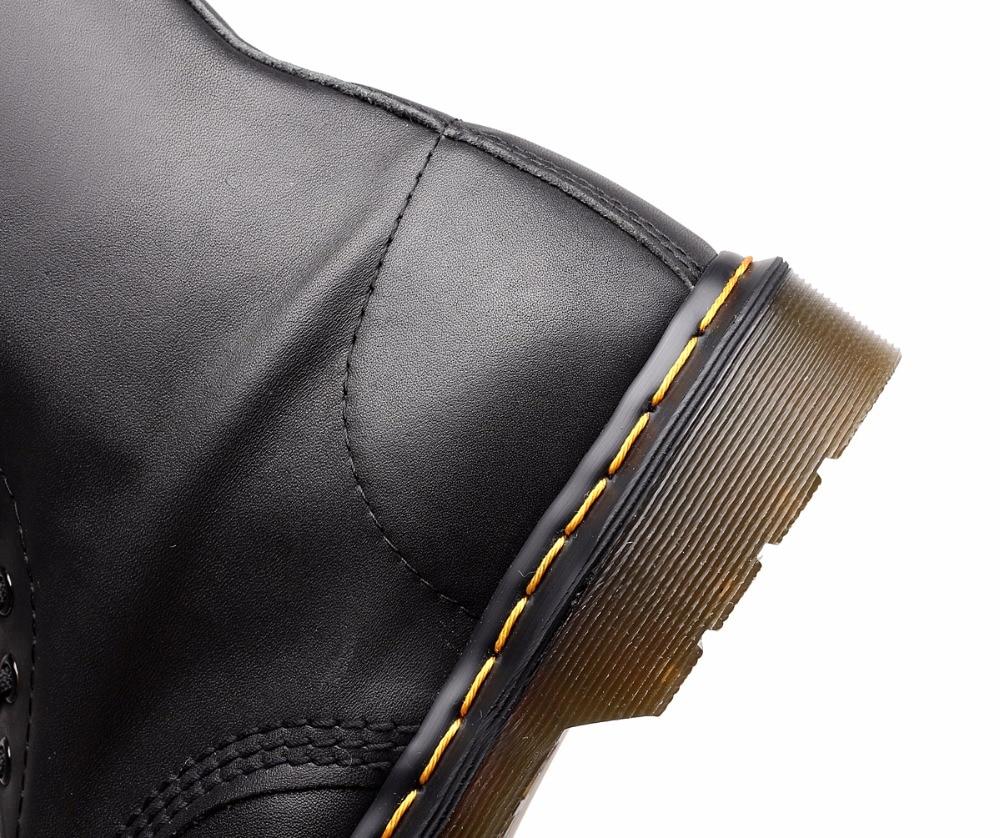2019 Botas de los hombres de cuero zapatos de invierno cálido motocicleta para hombre botín otoño moda hombres zapatos Oxfords