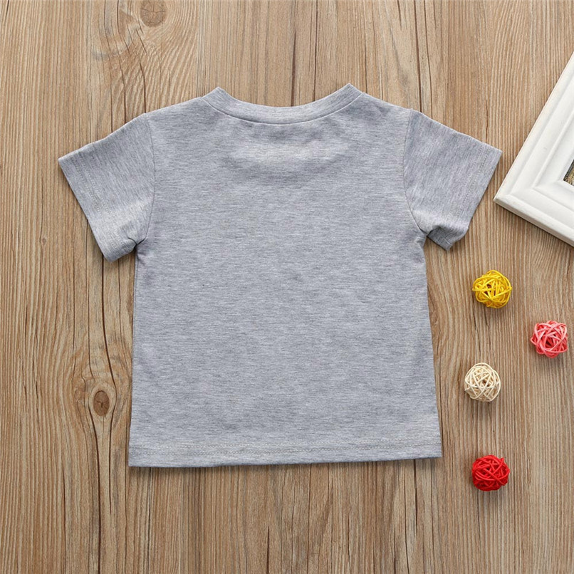 Summer Baby Boys Tops And Tees Toddler Kids Baby Boys Short Sleeve Letter Printing Tops T-Shirt Baby Boy Clothes M8Y18 (3)