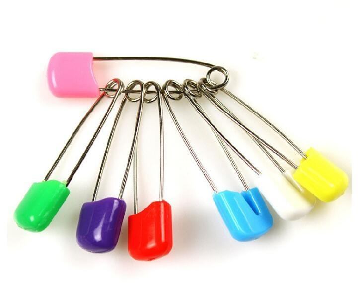 10pcs//100pcs Needles Safety Pins Sewing Brooch Holder Safe Clips for Baby Diaper