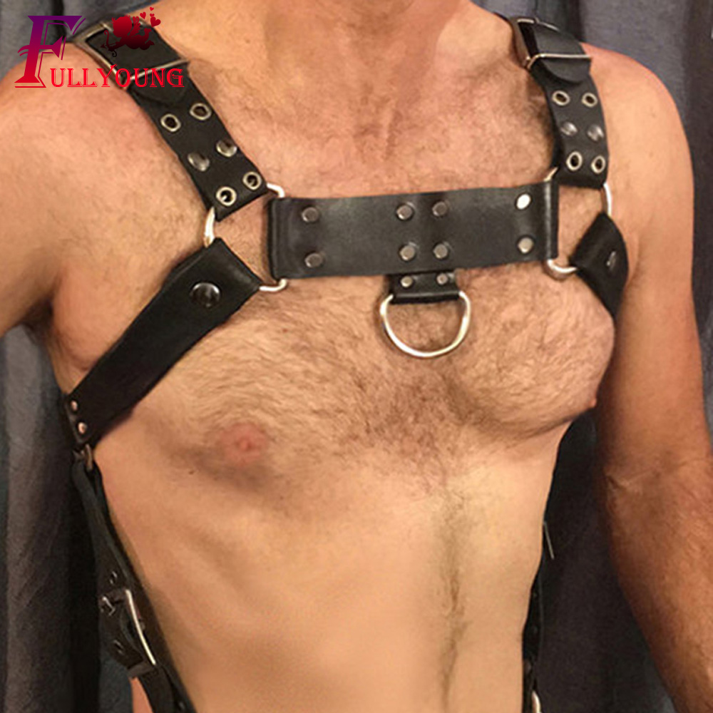 Punk Rock Handgefertigte Leder Taille Gurtband Sculpting Harness;