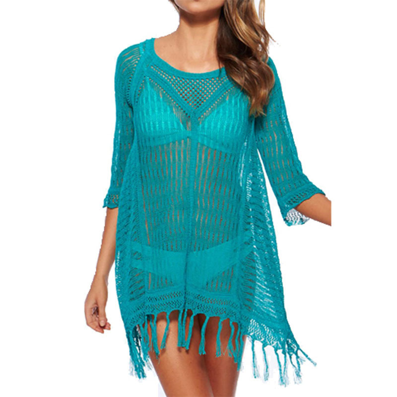-Women-Swimwear-Summer-Beach-Cover-Up-Plus-Size-Outings-Beach-Crochet-Swim-Suit-Cover-Ups