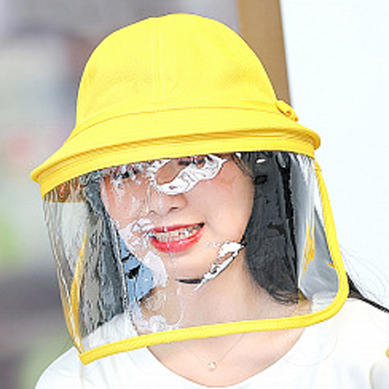 Adult, Yellow Protective Hat Female Fisherman Hat Parent-child Full Face Hat Male