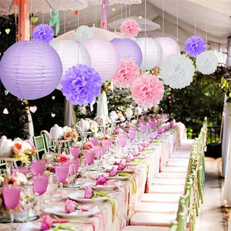 15pcs Pink party decoration 3