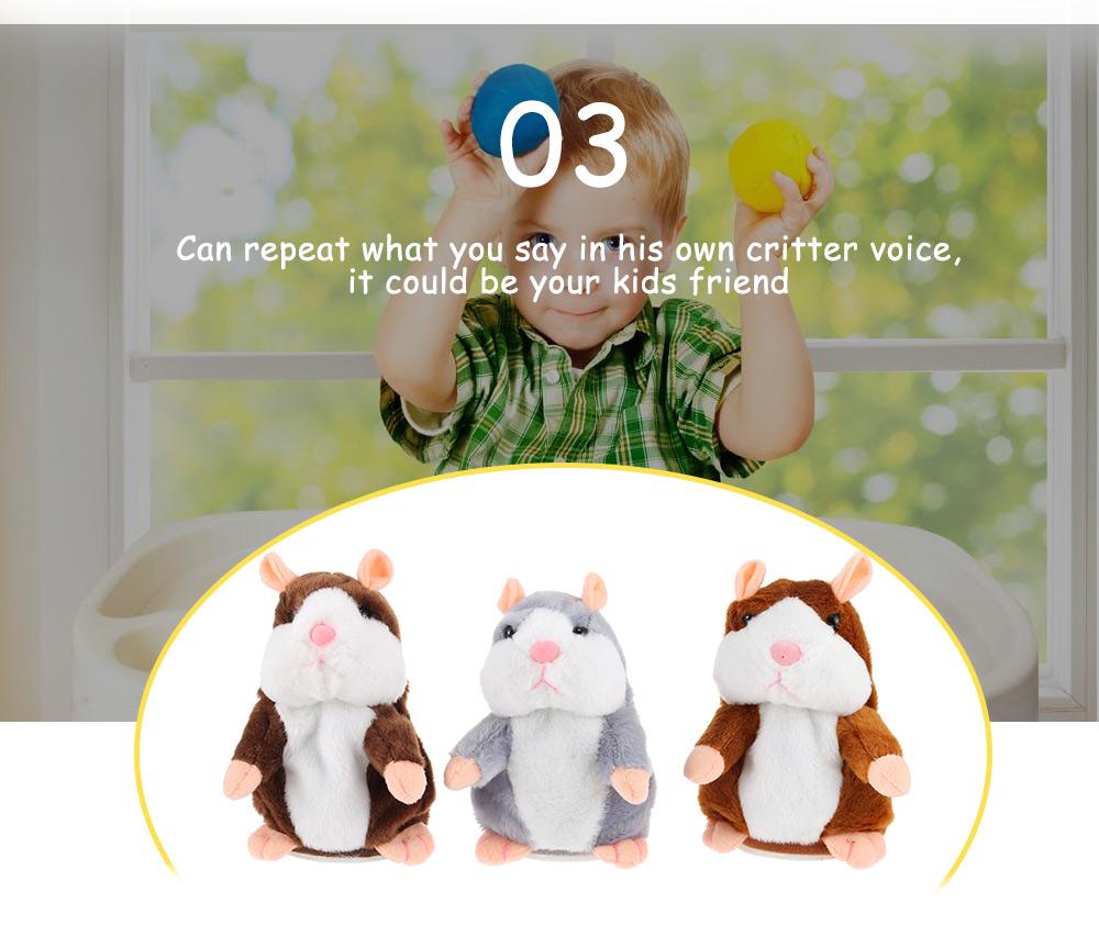Talking Plush Cartoon Hamster Interesting Kids Toys