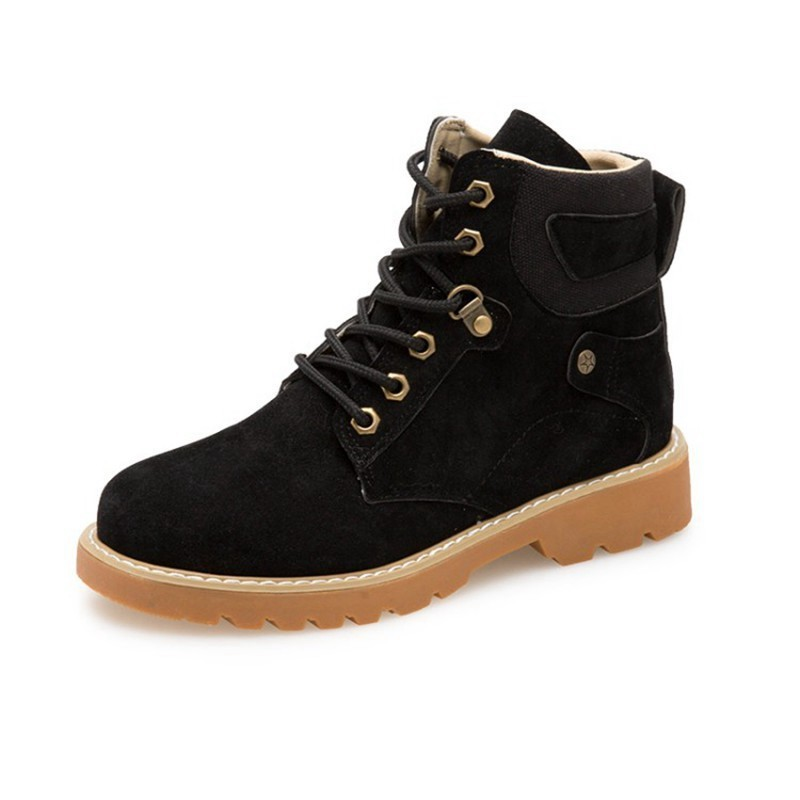 COOTELILI Fashion Rubber Ankle Boots For Women Motorcycle Boots Female Cool Casual Flat Shoes Woman Autumn Winter Shoes Ladies (8)