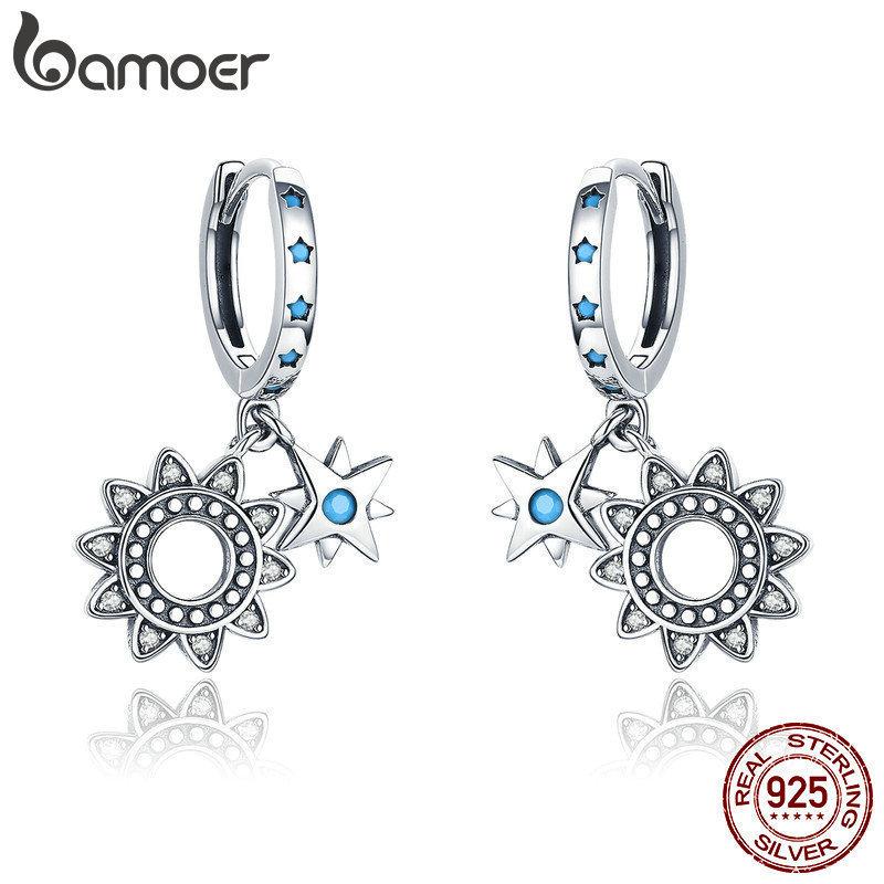 Solide 925 Silber Schmuck Schmetterling Blume Blatt Frauen Ohrstecker Ohrringe