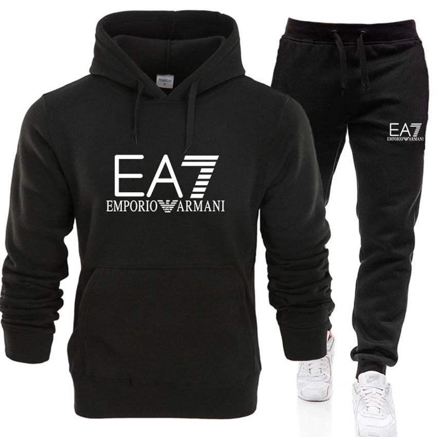 EA7 Damen Sportanzug Hoodies Jogginghose Anzug Trainingsanzug  2Pcs Sportswear