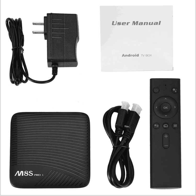 Smart2019 Edition Voice Network Set Top Box M8s para L S912 Android 7.1 Tvbox 3g / 16g 4k