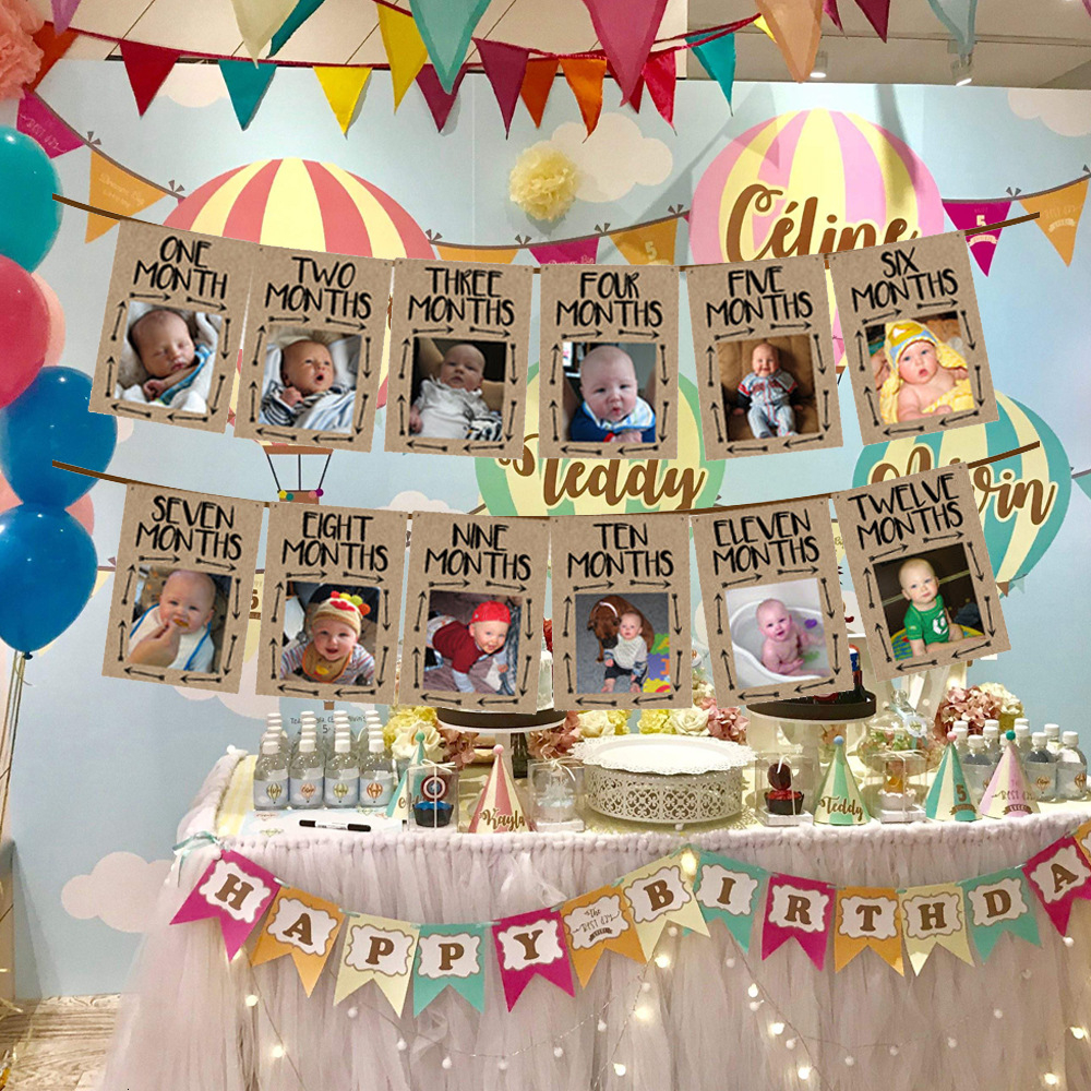 2021 Wild One Photo Frame Birthday Banner First Happy Birthday Decorations Garland 1st Baby Boy Girl My 1 One Year Party Supplies Sh190920 From Hai08 10 38 Dhgate Com