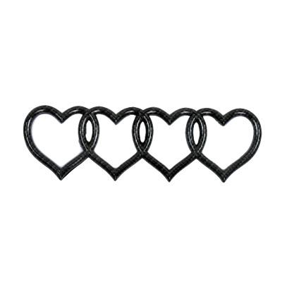 wholesale Love Heart Logo Rear Trunk Badge Emblem Decal Sticker Replacement for Audi car Logo decal car tail label vehicle tail