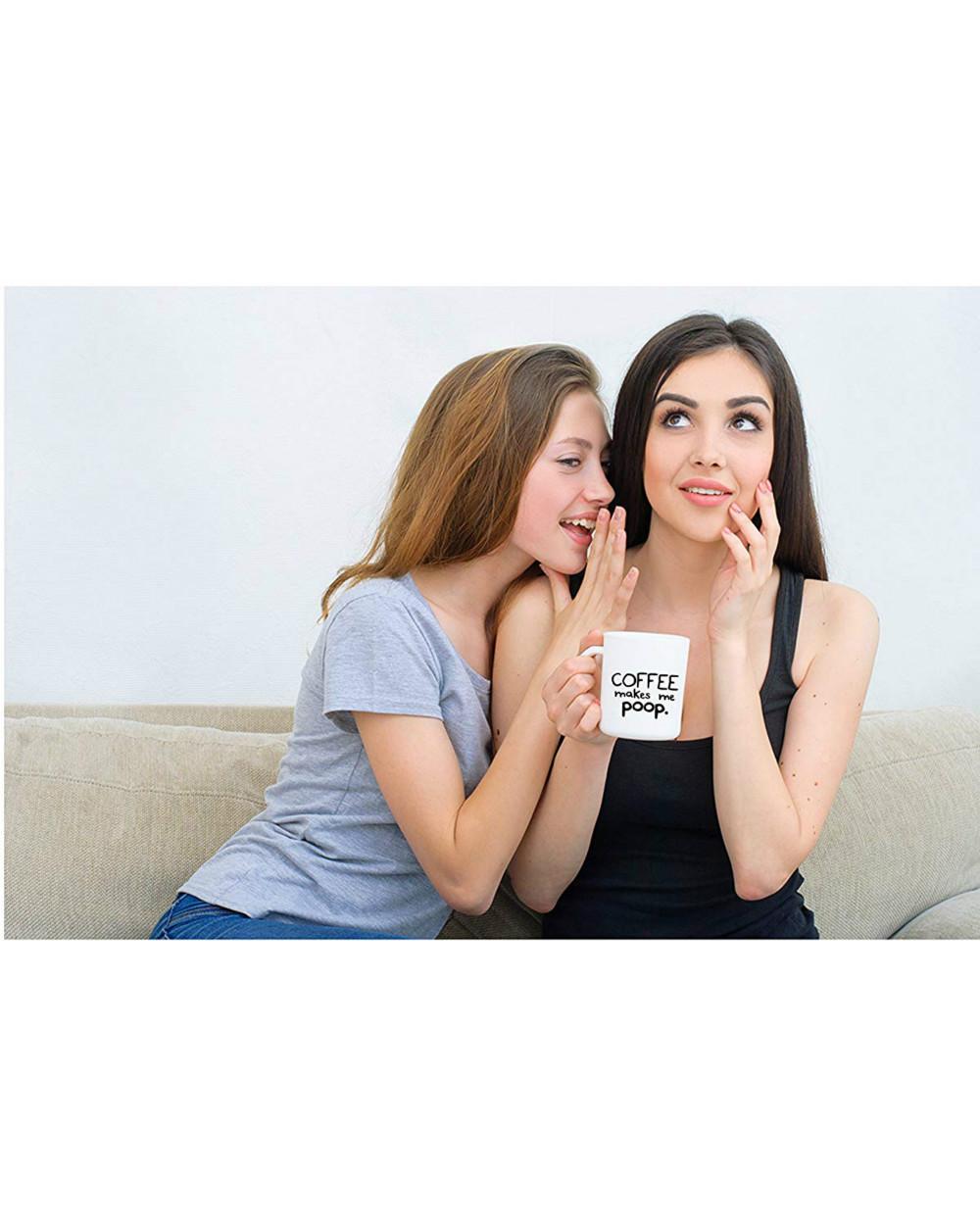 Divertente tazza di caffè mi fa cagare tè grande regalo papà mamma marito moglie sorella fratello co lavoratore capo insegnante divertente umorismo e sarcasmo