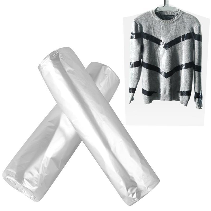 vêtements anti-poussière couverture Couvre-poussière en plastique à usage unique vêtement Couvre Costume poussière Bouclier Couverture pour Accueil Nettoyeurs Vêtements T200117