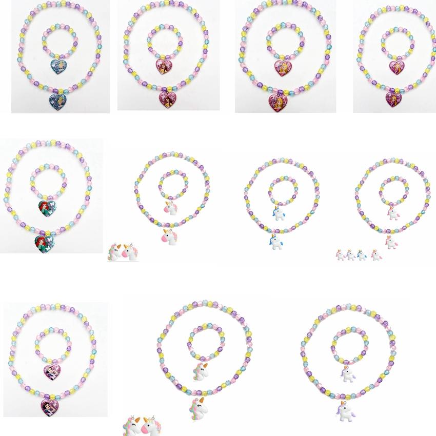 9 Pezzi Colorato Unicorno Braccialetto Ragazze Unicorno Arcobaleno Bracciale Perline Braccialetto per Feste di Compleanno Favori