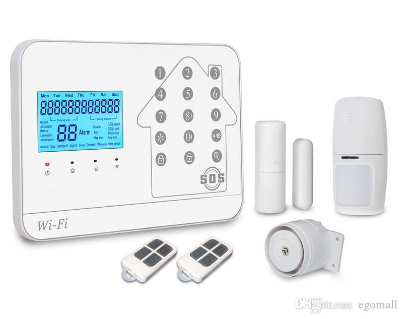 GSM WIFI Burglar alarm/GSM Alarm System/Wireless GSM Alarm System Support IOS Android APP