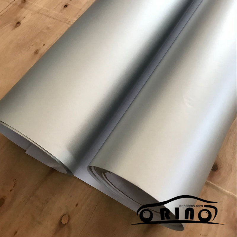Silver Metallic Chrome Vinyl Wrap Film-1