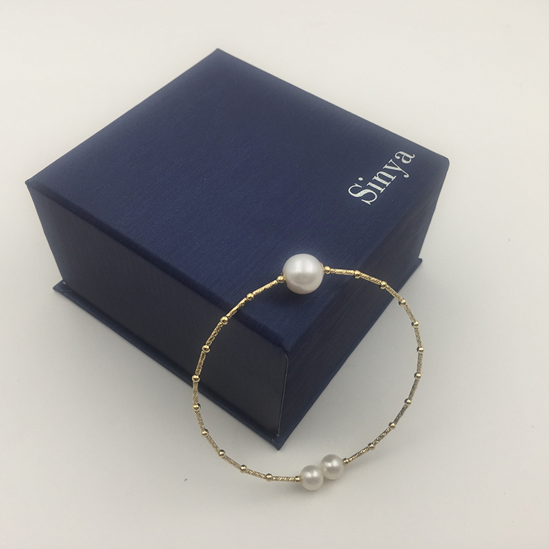 18k gold bangles bracelet SL18K1004 (7)