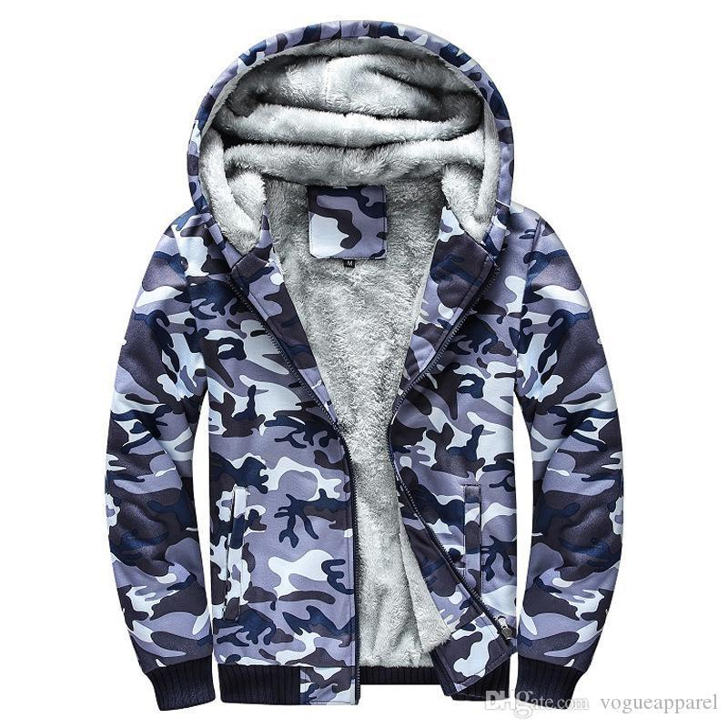 Mens Body Warm Thick Jackets Army Green Blue Camouflage Coats Man Large Size Clothing 5XL Fashion