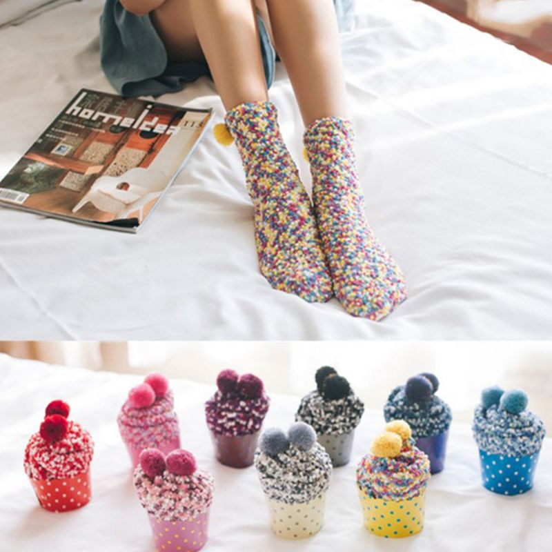 Cute Cupcake No-shown Ankle Socks Two Pieces Broke Girl Fairy Patty NEUE