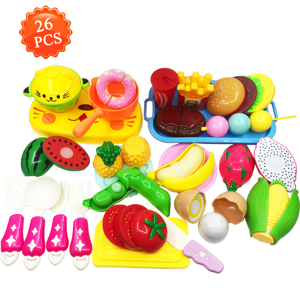 2019 Cutting Cooking Food Sets Pretend Play Kitchen Kits Toy Early  Development Learning Birthday Gifts For Ages 2 3 4 5 Year Old From  Windblock, ...