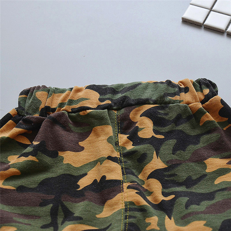 2PCS Summer Baby Sets Boy Toddler Baby Boy Sleeveless T-shirt Vest Tops+Camouflage Shorts Pants Sets Baby Boy Clothes M8Y24 (13)