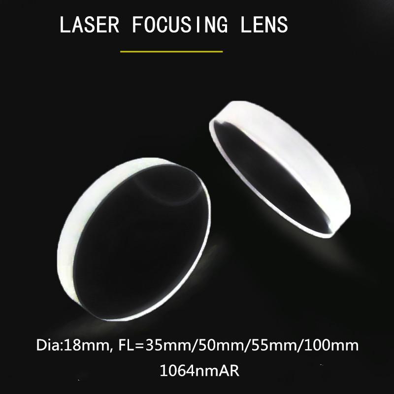 18mm Square lens for Led 18mm smooth biconvex lens optical focusing lens Pack of 5