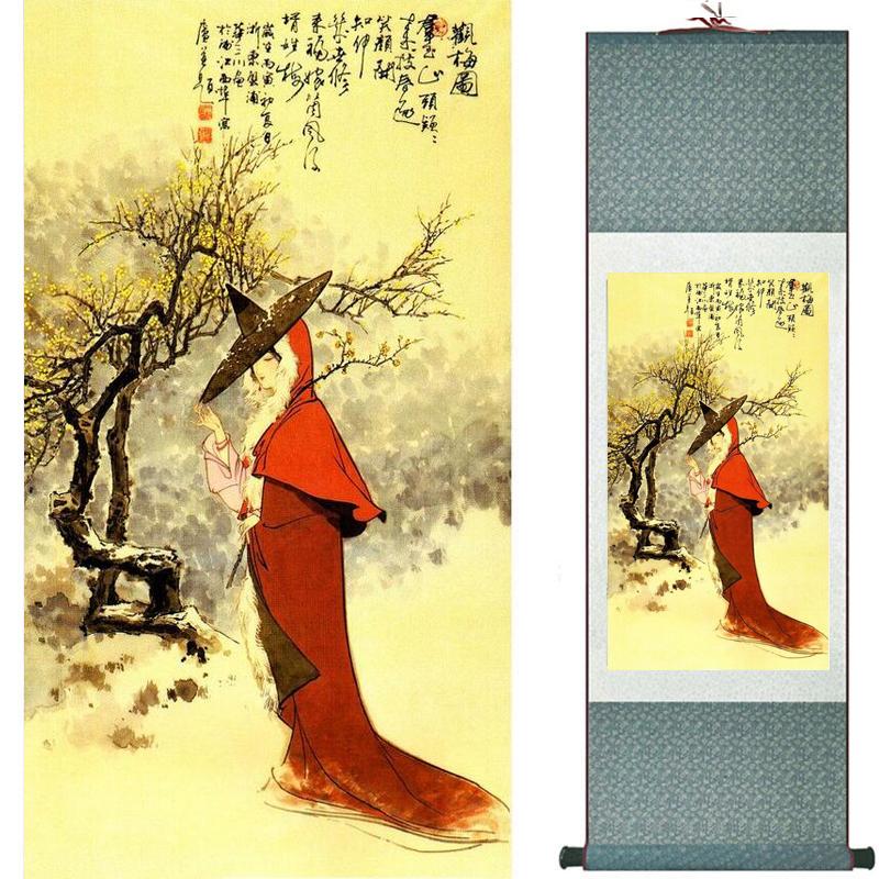 Pittura cinese di arte tradizionale Pittura di seta pergamena Pittura cinese di lavaggio 2019073102