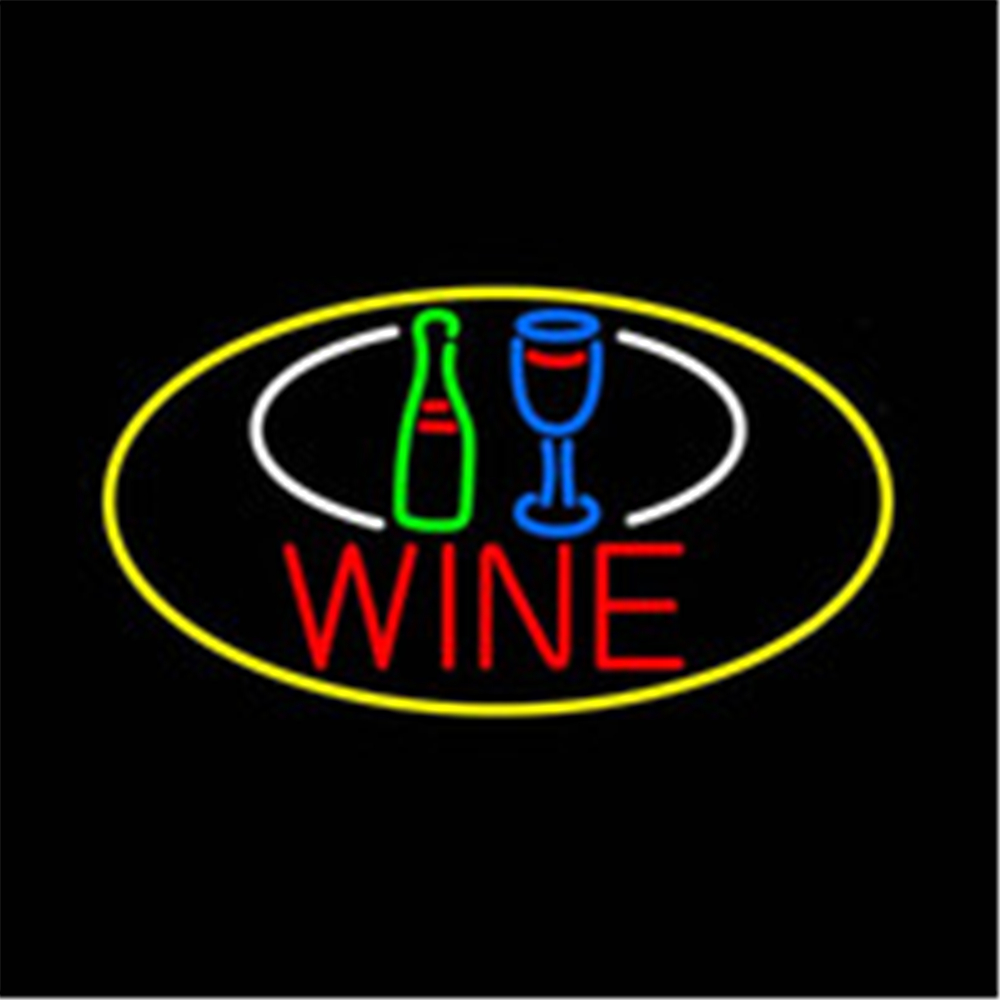 "New Wine Bottle Open Bar Pub Decor Real Glass Neon Light Sign 24/""x20/"""