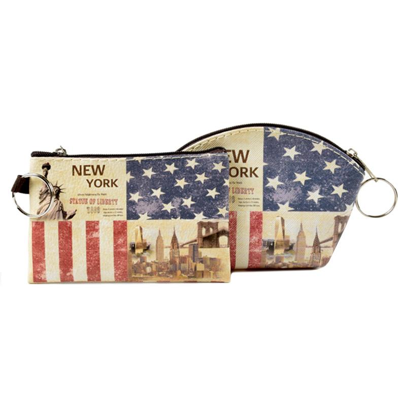 Statue of Liberty American Flag Patriotic Small Crossbody Bag Cell Phone Purse Smartphone Wallet with Shoulder Strap Handbag for Women