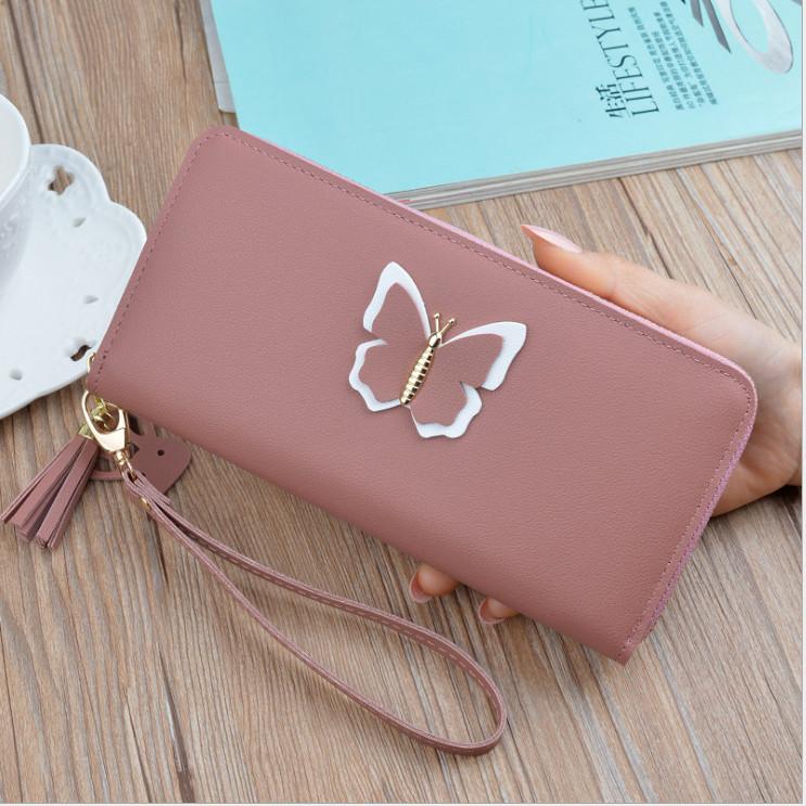 Women Case Purse Lady Sac à main pochette en cuir Portefeuille long porte-carte sac téléphone