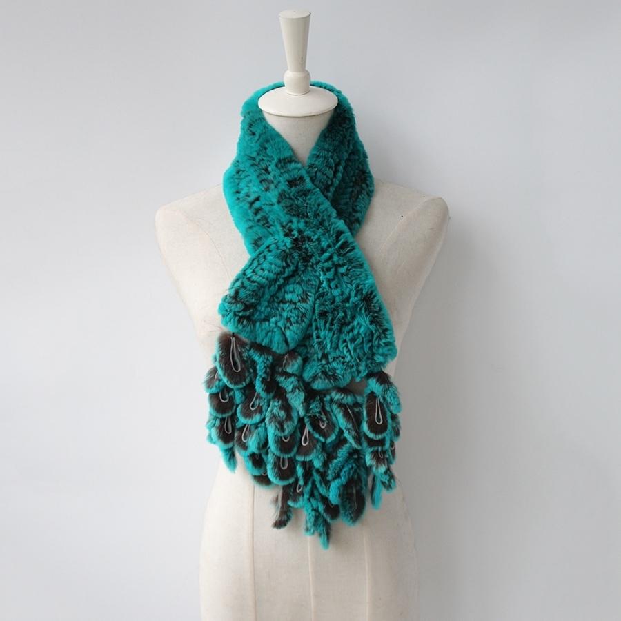 knitted rabbit fur scarf rabbit (7)