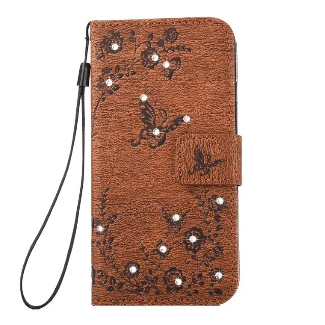 Apply Apple Xsmax Hand Shell Note9 Diamond Butterfly Embossing Leather Sheath 67plus Wallet Set Mate20 Woman