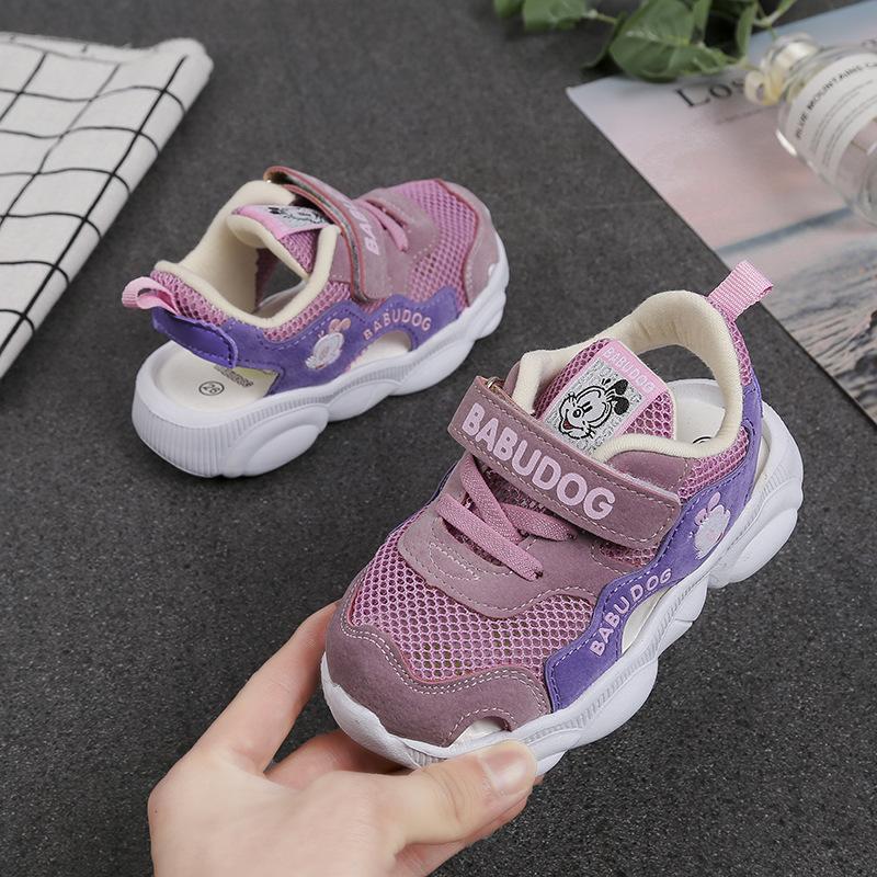 Çocuk Baotou Fonksiyonu Sandalet Katı Eva Sole Öğrenci Hareketi Bebek Çalışma Yürüyüş Kız Prenses Bebek Ayakkabıları Çocuk Moda Kızlar