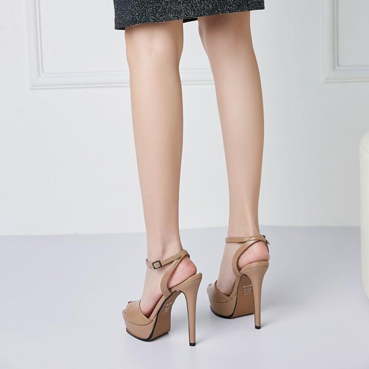 New Women Platform Sandals Thin High Heel Sandals Open Toe