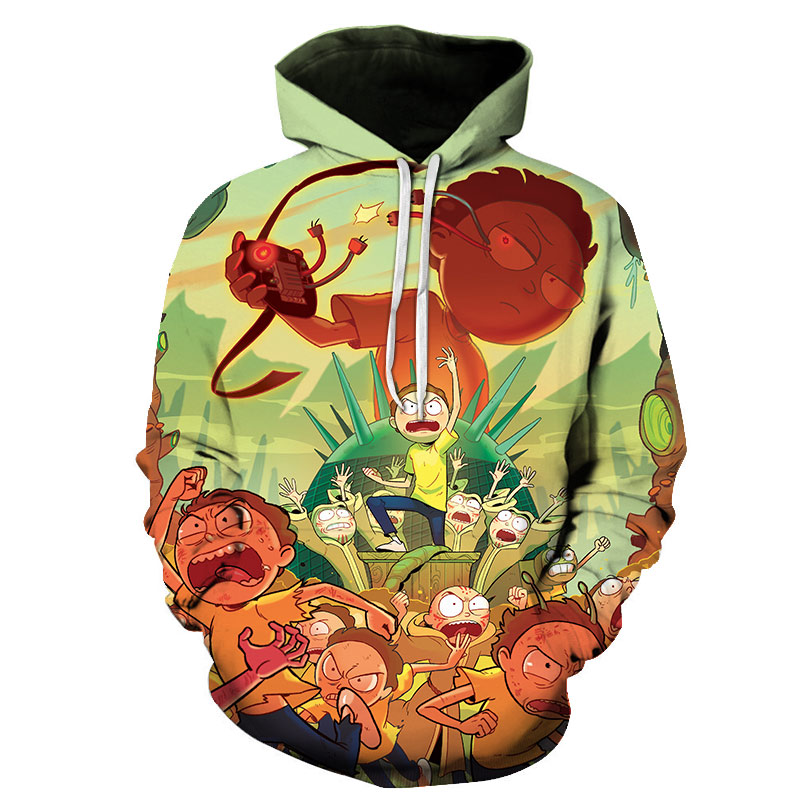 Skateboard T-Shirt Hooded with A Pocket Rope Hat Customization Fashion Novelty 3D Mens