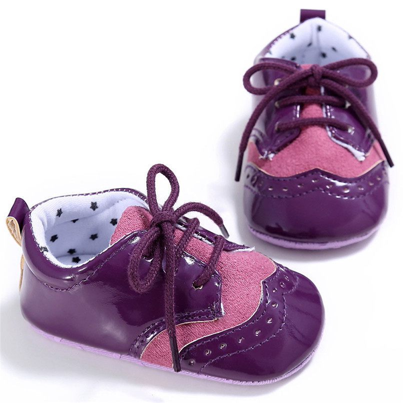 4 Color Baby Girls Shoes Fashion Newborn Infant Baby Girls Solid Lace-Up Shoes Soft Sole Anti-slip Sneakers First Walker M8Y04 (26)