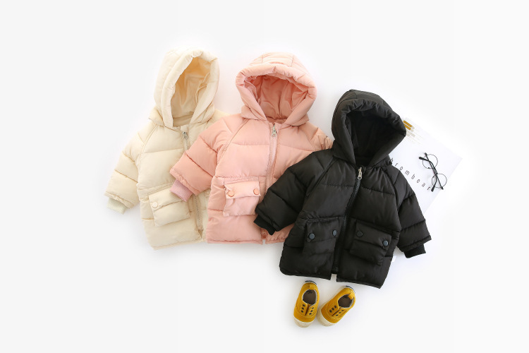 WLG baby boys girls winter coats kids hooded long sleeve cartoon parkas toddler girl thick warm clothes children 1-5 years old