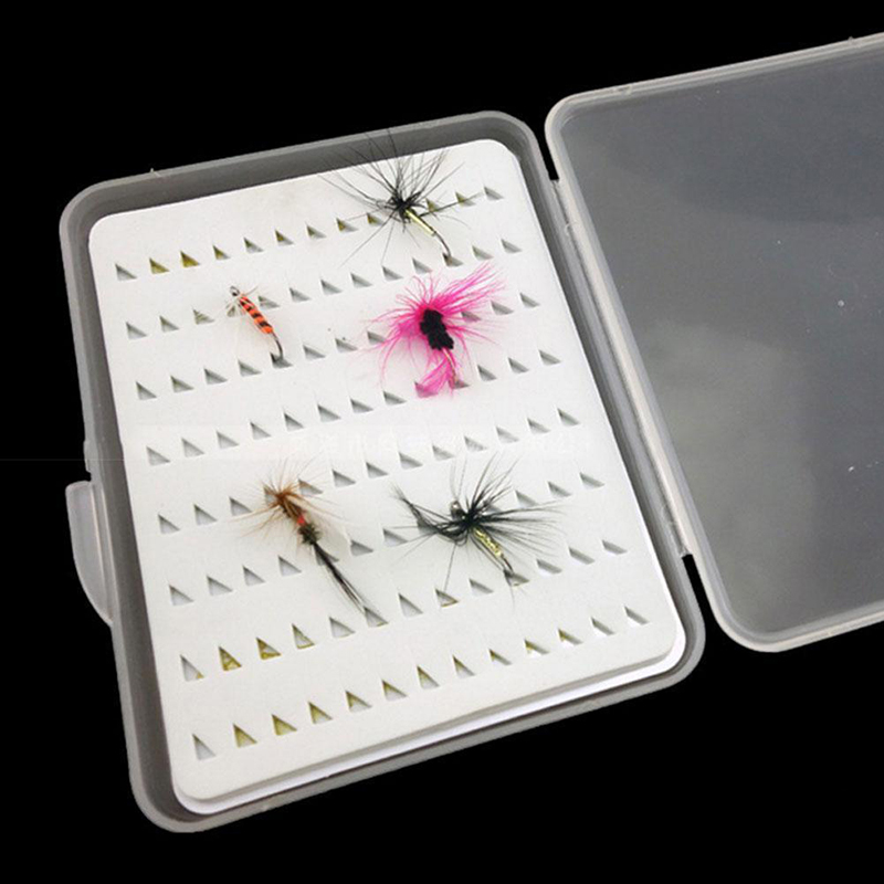 Slim Case Box Professional Tool Outdoor Clear Plastic Fly Fishing Flies Sale Hot