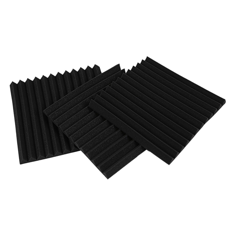 "48PCS Acoustic Foam Panel Sound Stop Absorption Treatment Proofing 12/"" X 12/"" X 1"