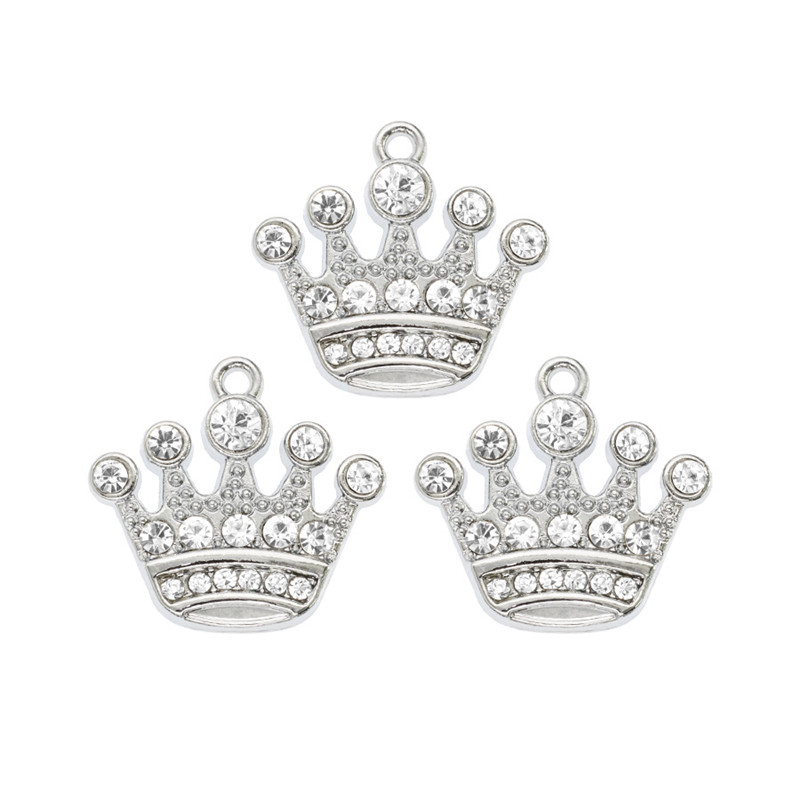 10pc imperial corona Corona encanto colgante perla imitación de moda joyería haciendo 1133#