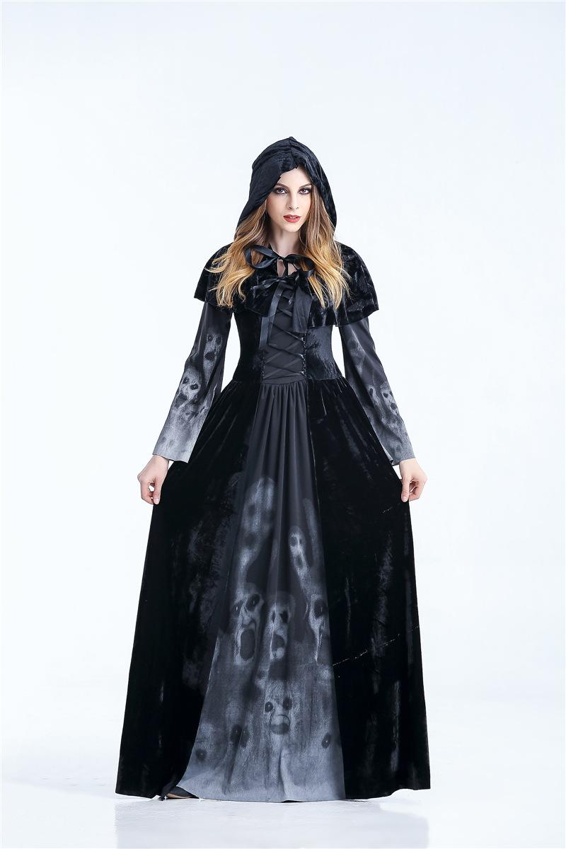 Bruja Halloween Vampiro Fancy Dress Costume Mujer Damas Grito Para Hombre Nuevo