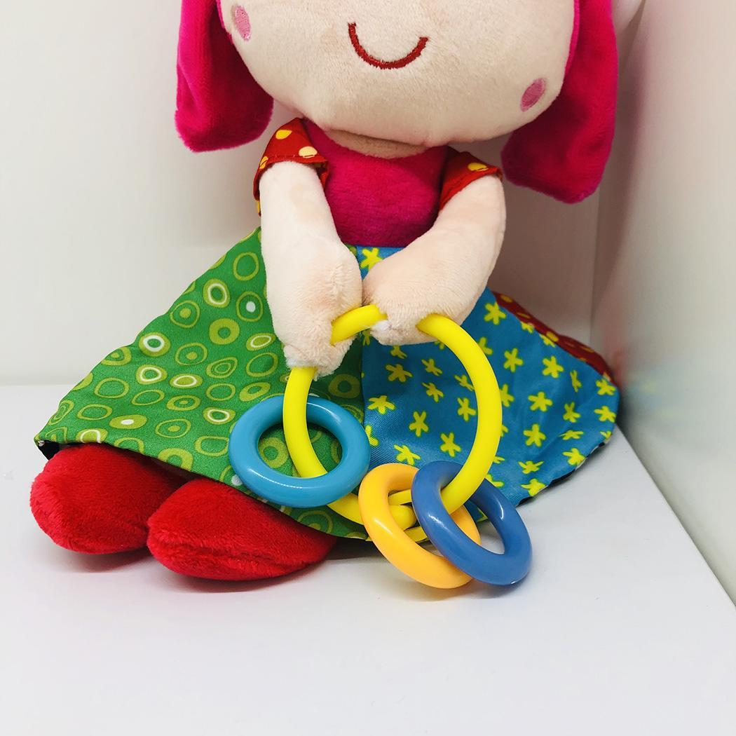 Toddler Baby Multicolor Cute Musical Plush Ring Rattle Toy Fashion Girls Pattern Rattle Toy