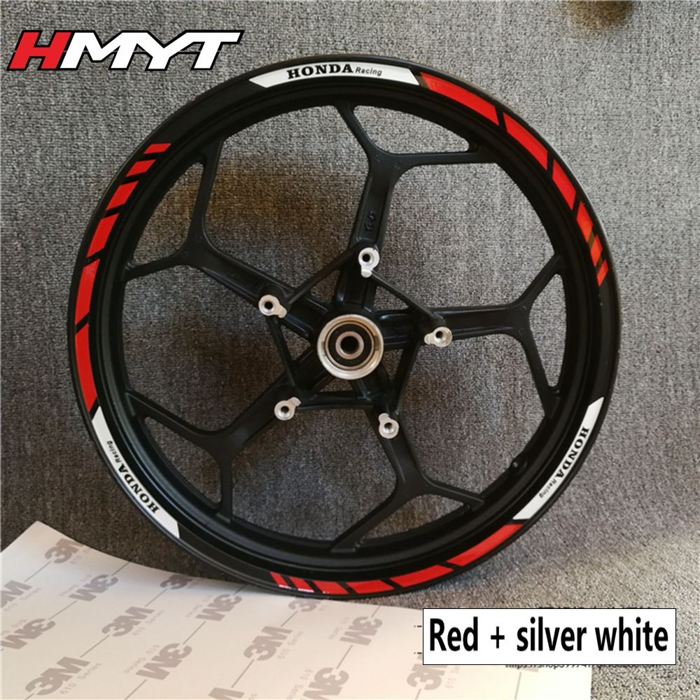Color : 1 7 Style Motorcycle Wheel Tire Rim Stickers 17 Inch Wheel For Honda Hornet CB400 CB599 CB600 CB750 CB900 CB919 CB1000R