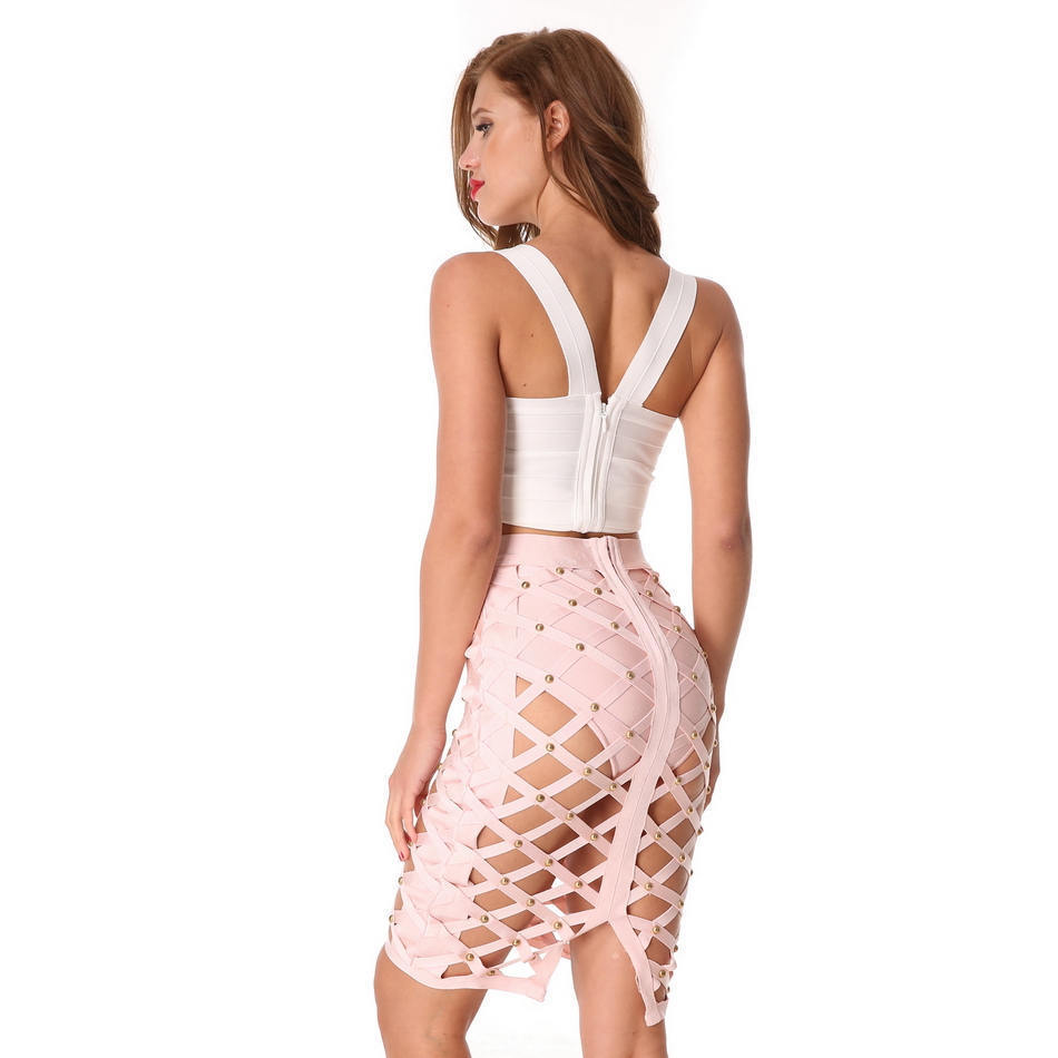 Evening-Party-Club-Knee-Length-Solid-Bandage-Skirts-2018-Summer-Ladies-Sexy-Hollow-Out-Women-Skirts (2)