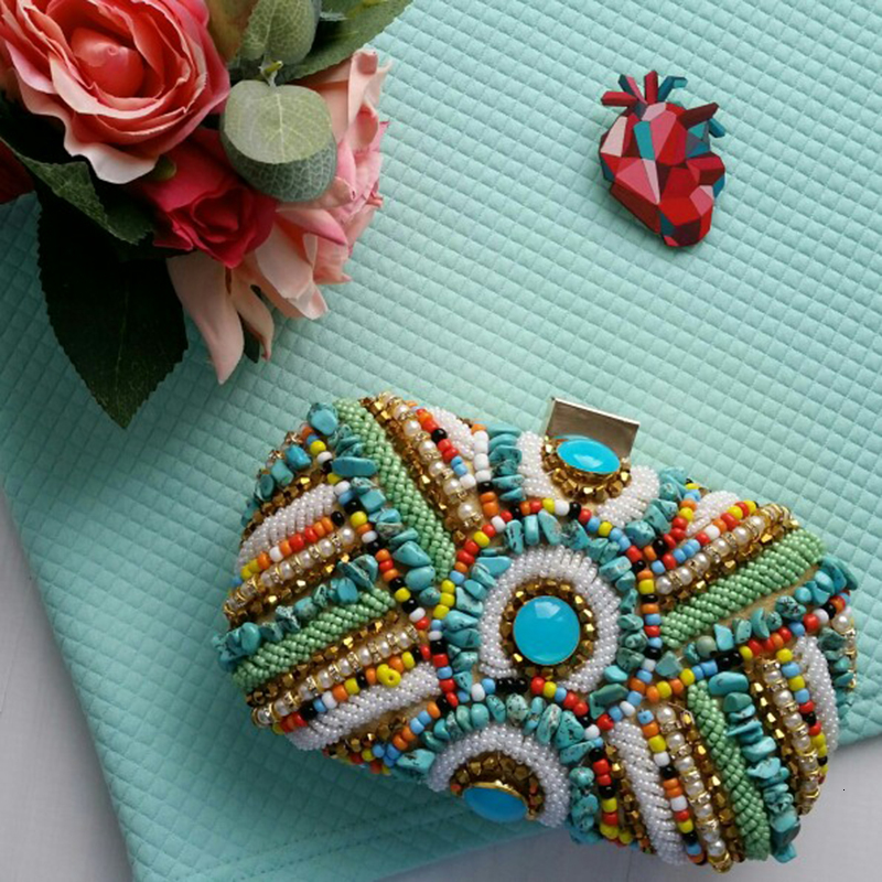 Vintage Colorful Beaded Stones bags (10)