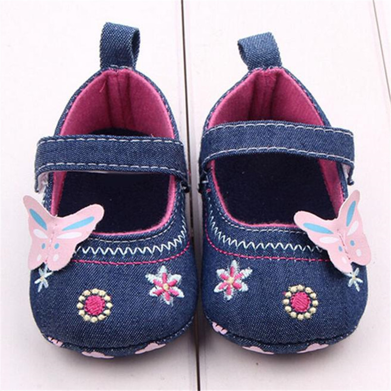 Fashion Baby Girl First Walker Butterfly Soft Sole Toddler Shoes NDA84L16 (9)