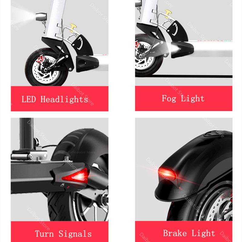 Double Drive Electric Scooter Off Road 2 Wheels Electric Scooters 10 Inch 48V 1200W 45KMH Folding Kick Scooter For Adult (19)