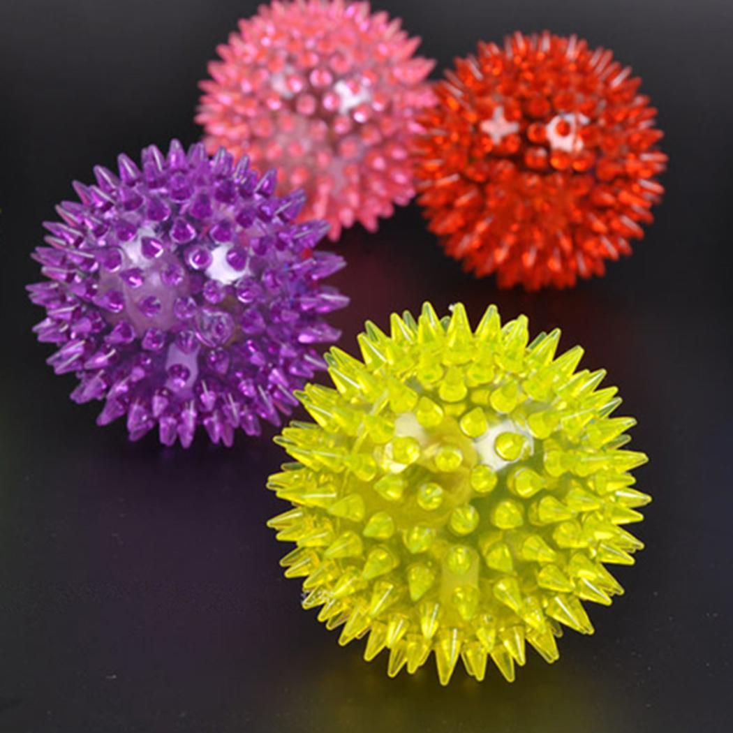 Flashing Light Up Ball Hedgehog Glowing Bouncing Ball Rubber Squeeze Toys New Toys & Hobbies