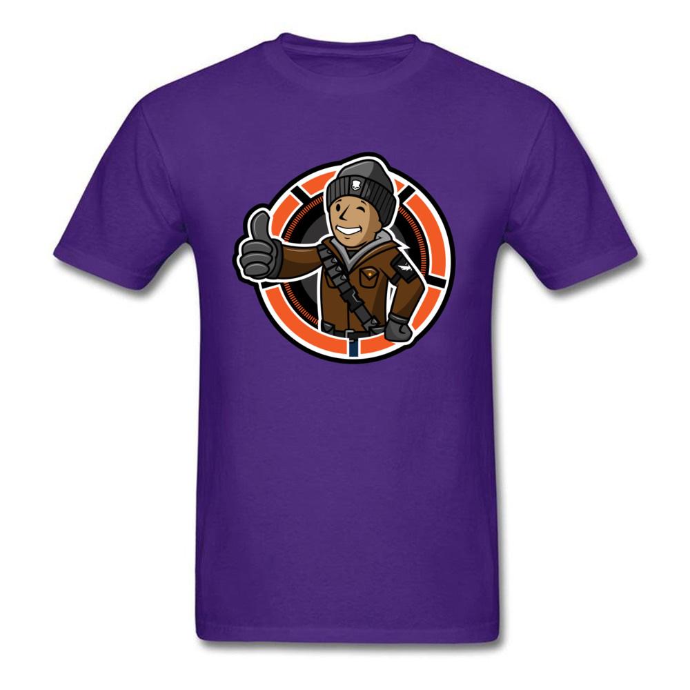 Casual Division Boy T Shirt On Sale Autumn Short Sleeve Crewneck Tops Shirt Cotton Men\`s Simple Style Clothing Shirt Division Boy purple