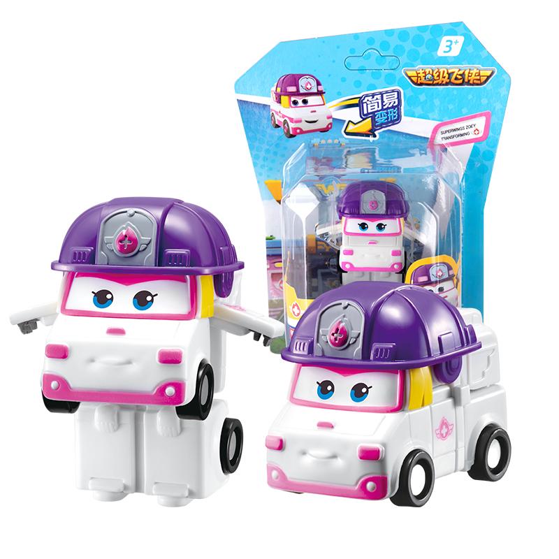 Super Wings Mini Transform Robots 19 Single Action Figures Toy Zoey Swampy Dizzy Single Morph Airplane Anime Toys Mix 24pcs Per Box